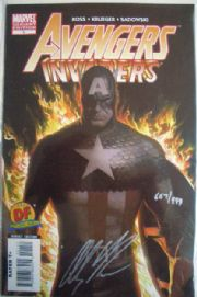 Avengers Invaders #1  Dynamic Forces Variant Signed Alex Ross COA DF Marvel comic book